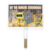 Grillkorb 40x30 cm Fischbräter Fleischgrill Grillwender Gemüse Burger Patty