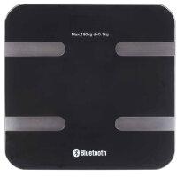 Digitale Gewicht-/ Körperfettwaage mit iOS App Bluetooth Schwarz