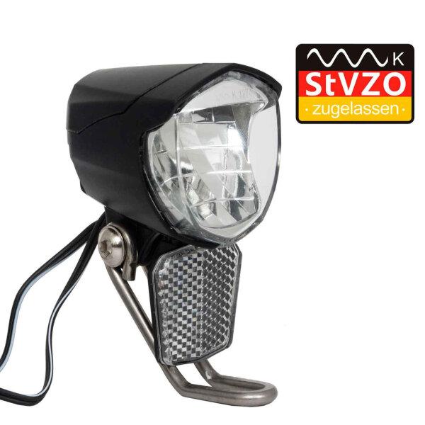 Cree LED Fahhradscheinwerfer Nabendynamo StVZO 70 Lux mit Sensor