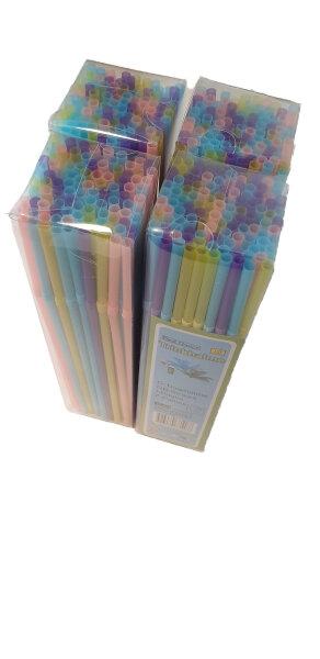 4 x100 Trinkhalme, Strohhalme Knickbar in verschiedenen bunten pastellfarben