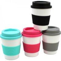 Kaffeebecher Coffee to go, 4 Farben, mit Hitzeschutz aus...