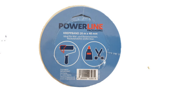 Power Line Maler-Kreppband 20m x 48mm
