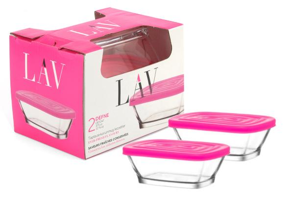 LAV Glasschale 2er DEFNE LAV Dessertschale mit Deckel