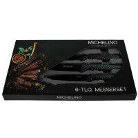 Michelino 6tlg. Messer-Set 5x Messer 1x Schäler Carbon Optic