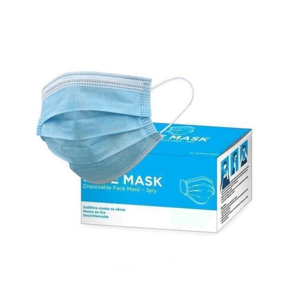 100 Mundschutz Atemschutzmasken Gesicht Hygienemaske OP Maske mit 3 lagigem Filtermaterial