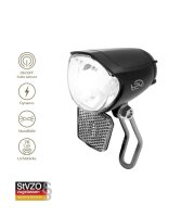 T24 Front Extra Bright LED Fahrrad Frontlicht Dynamo Helligkeitssensor 70LUX