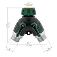 T24 Premium 5 bis 15m Flexibler Multifunktion Gartenschlauch 10 Funktion, grün