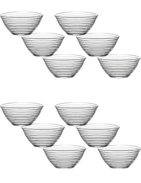 LAV 12tlg Glasschalen Derin Schalen Glasschale Dessertschale Vorspeise Glas Gläser 300cc