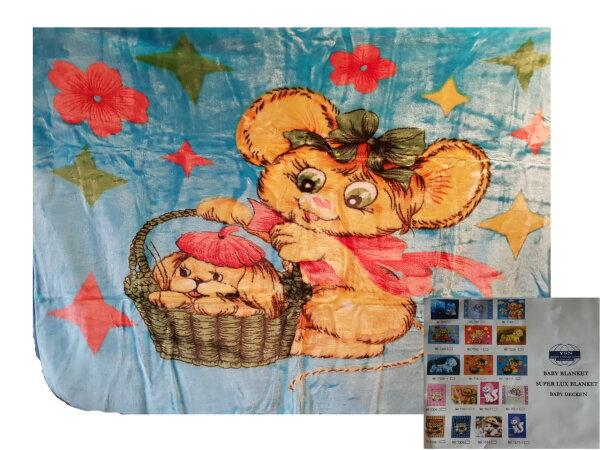 Kinderdecke Decke Kuscheldecke Babydecke - ca. 110x130 cm vers. Motive