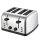 Edelstahl Toaster -  4 Schubladen 4 Scheiben