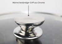 Servierpfanne Schmorpfanne Kochtopf mit Deckel Induktion Ø28cm Aluguss