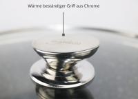 WOK Wokpfanne Woktopf Induktion 28cm Aluguss Deckel Schwarz