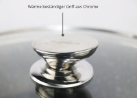 Bratpfanne 24cm Aluguss Glasdeckel Induktion Marmor Antikratz Pfanne