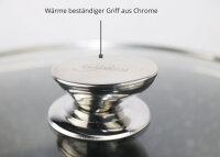 Bratpfanne 28cm Aluguss Glasdeckel Induktion Marmor Antikratz Pfanne