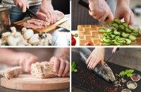 8 tlg Messerset Kochmesser Messerständer drehbar Edelstahl Messer Rostfrei
