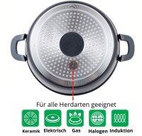 Servierpfanne Schmorpfanne Kochtopf mit Deckel Induktion Ø24cm Aluguss