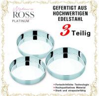 3tlg Hochwertigen Allzweck Edelstahl Tablett Serviertablett