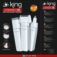 King Compact 3in1 Set Nasen-Trimmer Bartschneider...