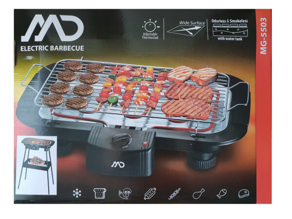 MD Homelectro MG 5503 Elektrische Barbecue - 2000W