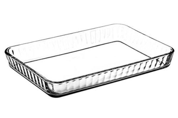 Borcam - Auflaufform und Backform, rechteckig aus Glas, 40 x 27 cm