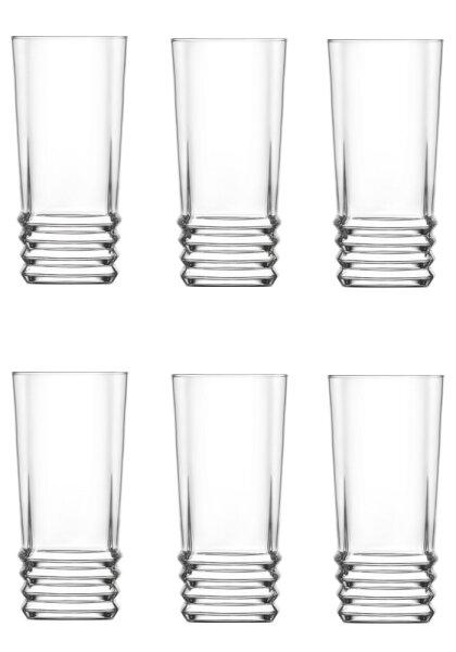 6 tlg. 335 ml Saftgläser Wasserglas Trinkgläser Getränkegläser