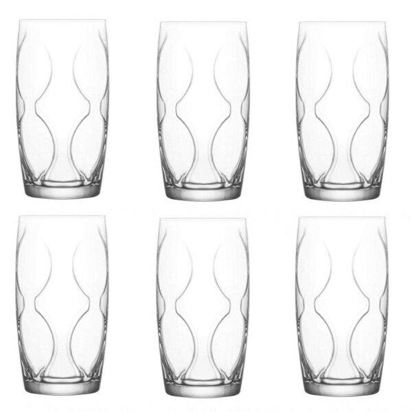 6er Saftglas Wasserglas  365cc Lena